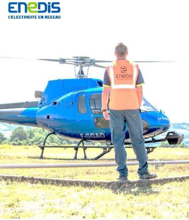 ENEDIS – Survol de la commune en hélicoptère