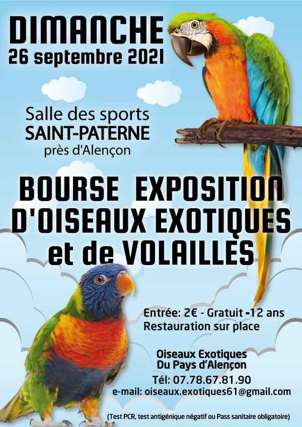 Bourse expo d'oiseaux exotiques